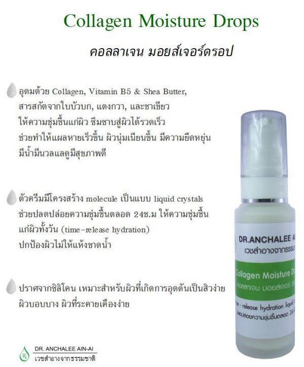 Collagen Moisture Drops - Dr. Anchalee Ain ai, Cosmeceuticals USA - เวชสำอางจากธรรมชา