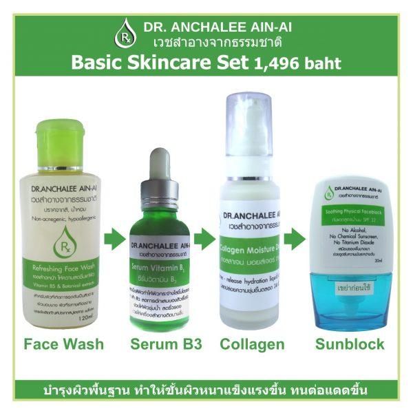 Basic Set - Dr. Anchalee Ain ai, Cosmeceuticals USA – เวชสำอางจากธรรมชาติ